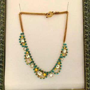 Juicy Couture gold necklace w coloured crystals.